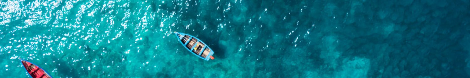 Aerial  view Traditional fisher boat in Santa Maria  in Sal